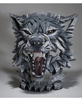 Edge Sculpture Wolf Bust - Grey