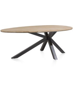 Habufa Colombo Starburst Oval 'Egg' Dining Table