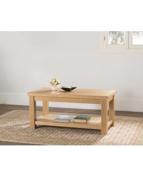 Michael O'Connor Valencia Large Oak Coffee Table with Shelf