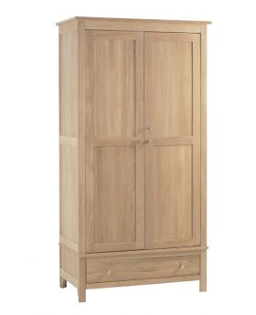 Corndell Nimbus Bedroom Mist Finish Double Wardrobe with Drawer