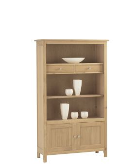 Corndell Nimbus Dining Medium Bookcase with Cupboard and Drawers