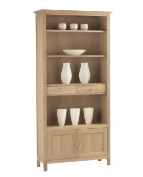 Corndell Nimbus Dining Large Bookcase with Cupboard and Drawers