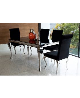 Vida Louis Dining Set with 4 Chairs