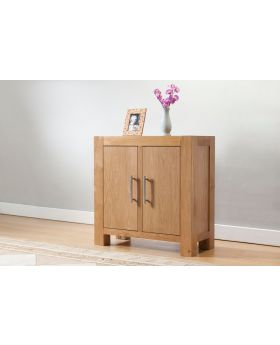 Michael O'Connor Lucerne Small 2 Door Oak Cabinet
