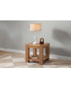 Michael O'Connor Lucerne Oak Lamp Table with Shelf