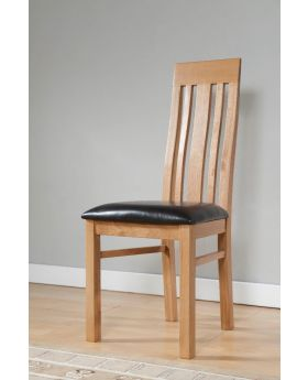 Michael O'Connor Lucerne Pair of Contemporary Oak Dining Chairs