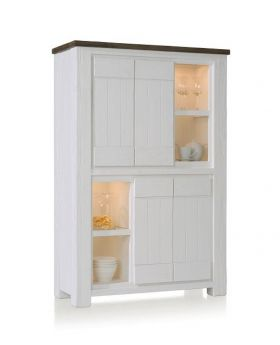 Habufa Deaumain Dining Cabinet 4-Doors + 4-Niches - 110 cm. ( Halogen )