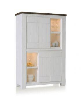 Habufa Deaumain Dining Cabinet 4-Doors + 4-Niches - 110 cm. ( Halogen )