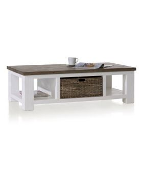 Habufa Deaumain Dining Coffee Table 70 X 130 cm. + 1-Basket T&T + 2-Niches