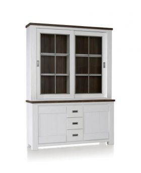 Habufa Deaumain Dining Buffet 2-Sliding Doors + 2-Doors + 3-Drawers