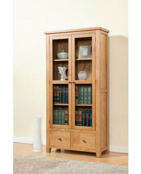 Michael O'Connor Shrewsbury Oak Display Cabinet with Glass Doors