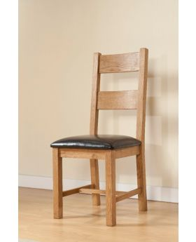 Michael O'Connor Shrewsbury Pair of Rustic Oak Dining Chairs