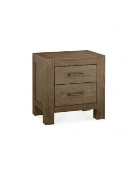 Turin Dark Oak 2 Drawer Nightstand