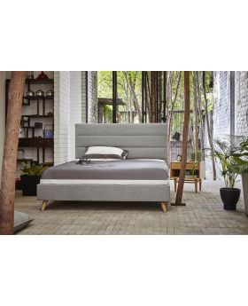 Oslo 135cm Bedstead - Light Grey