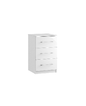 Roma 3 Drawer Bedside