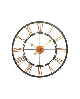 Libra large metal skeletal wall clock