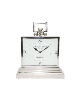 Libra latham small aluminium rectangular clock with roman numerals
