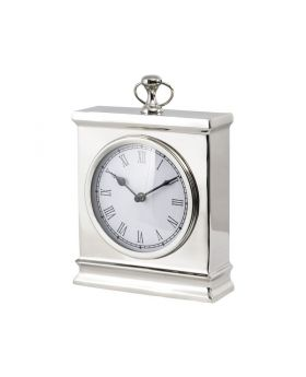 Libra amesbury large nickel mantel clock