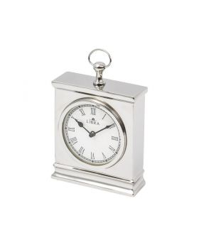 Libra amesbury small nickel mantel clock
