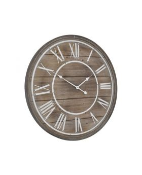 Libra hemsby bleach wooden wall clock