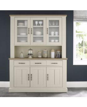Bentley Designs Chartreuse Aged Oak & Antique White Glazed Dresser