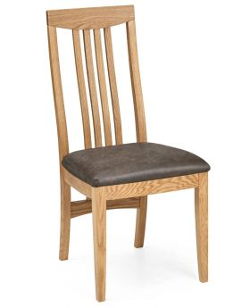 High Park Slatted Chair - Distressed Bonded Leather (Pair)