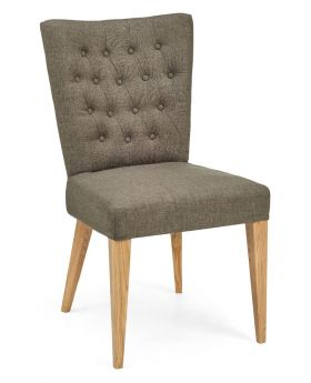 High Park Upholstered Chair - Black Gold Fabric (Pair)