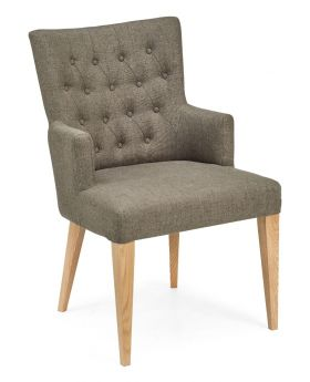 High Park Upholstered Arm Chair - Black Gold Fabric (Pair)