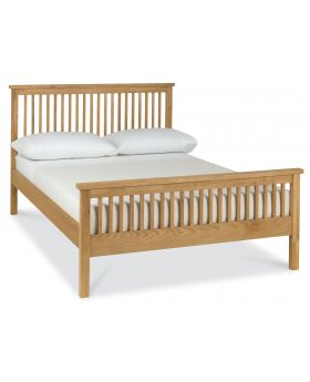 Bentley Designs Atlanta Oak 135Cm High Footend Bedstead