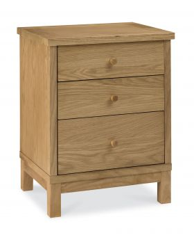 Bentley Designs Atlanta Oak 3 Drawer Nightstand