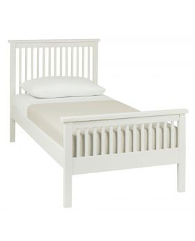 Bentley Designs Atlanta White 90Cm High Footend Bedstead