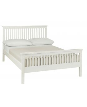 Bentley Designs Atlanta White 135Cm High Footend Bedstead