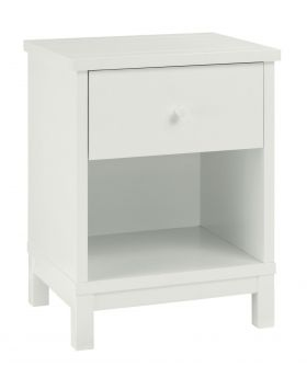 Bentley Designs Atlanta White 1 Drawer Nightstand