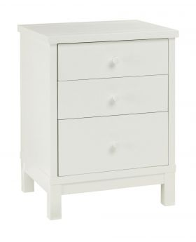 Bentley Designs Atlanta White 3 Drawer Nightstand