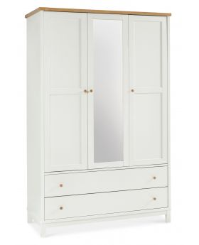 Bentley Designs Atlanta Two Tone Triple Wardrobe