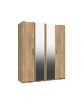 Waterfall 4 Door Robe With 2 Mirrors