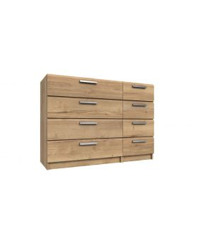 Waterfall 4 Drawer Double Chest