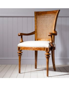 Frank Hudson Spire Cane Back Arm Chair