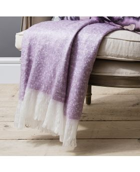 Frank Hudson Chic Faux Mohair Throw Heather