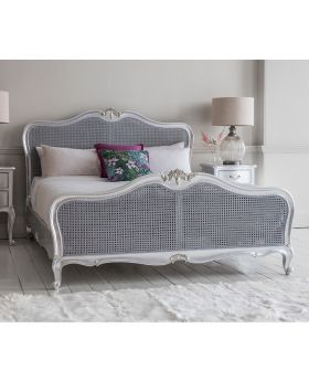Frank Hudson Chic 6' Cane Bed Silver