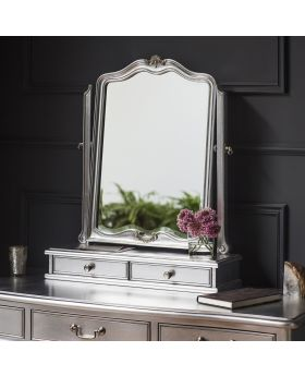 Frank Hudson Chic Dressing Table Mirror Silver