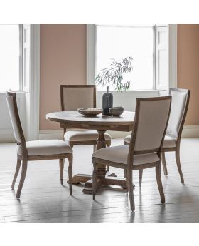 Frank Hudson Mustique Round Ext Dining Table