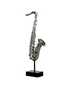 Pewter Saxophone Sculpture