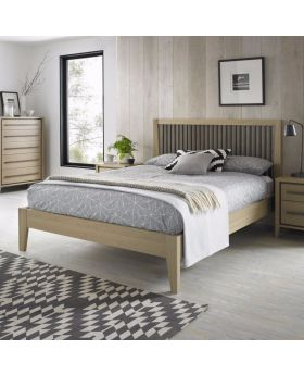 Bentley Designs Rimini Aged Oak & Weathered Oak 150Cm Slatted Bedstead