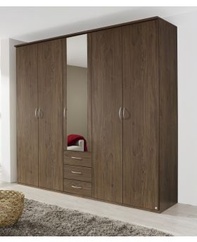 Rauch Kent 5 Door Combi Wardrobe with Centre Mirror