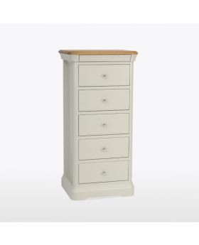 TCH Cromwell Bedroom 5 Drawer Tall Narrow Chest