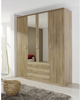 Rauch Kent 4 Door Combi Mirrored Wardrobe