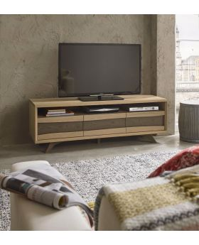 Bentley Designs Cadell Aged Oak Entertainment Unit