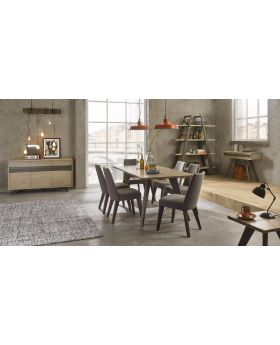 Bentley Designs Cadell Aged Oak Dining Set Package Offer