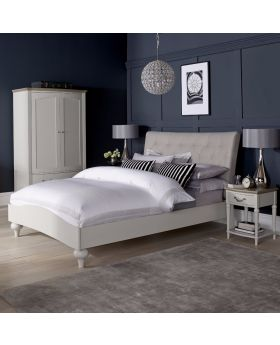 Bentley Designs Montreux Soft Grey 150Cm Upholstered Bed - Diamond Stitch